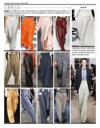 2020春夏 T台趋势 - 腰带长裤